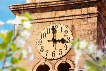 Cavtat clock tower