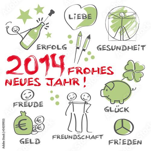 GamesAgeddon - 2017 Frohes neues Jahr illustrierte Grußkarte mit ...