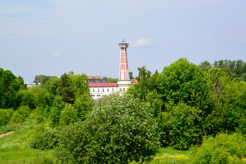 Rybinsk, Russia. View of an old fire tower