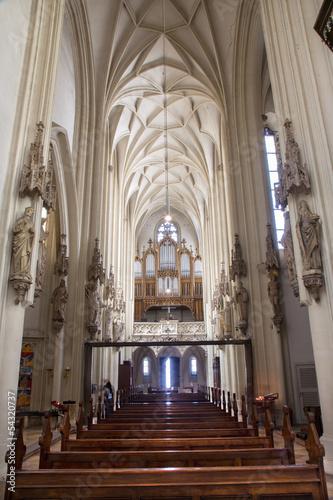 Vienna - Choir and nave in gothic church Maria am Gestade