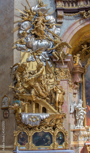 Vienna -  Martyrium of st. John the Nepomuk - Peterskirche