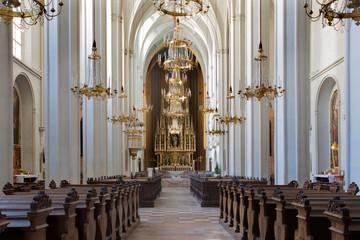 Vienna - Nave of Augustnierkirche or Augustinus church