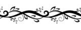 Horizontal seamless floral vignette. Vector illustration.