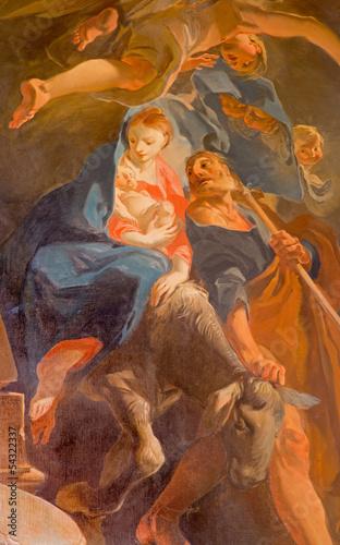 Vienna - Holy Family flight to Egypt paint - Jesuits church