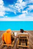 Couple at summer resort