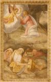Madrid - fresco of Jesus prayer in Gethsemane garden