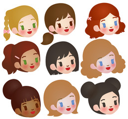 Collection of Cute Multi Ethnic Character