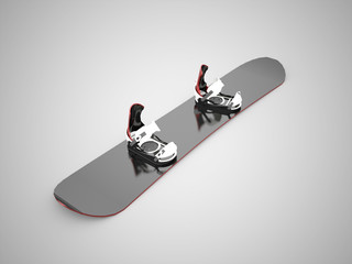 Black snow board