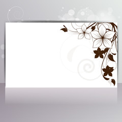 Abstract card with floral background