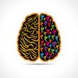 Conceptual idea silhouette image of brain with rupee symbol