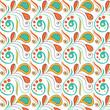 Vintage swirl seamless pattern