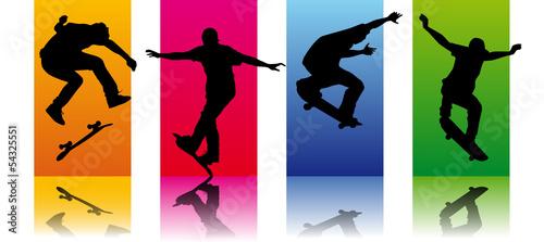 Fototapeta Set Skaters