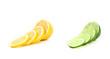 Lime and lemon slices.