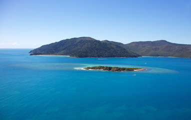 Whitsundays Landscape Aerial of Island