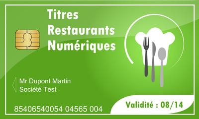 Carte a puce : Titres Restaurants
