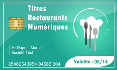 Carte : Titres Restaurants Numériques