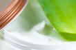 pot de crème hydratante pour le corps et aloe vera