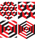 Abstract Isometric Geometric Pattern Background