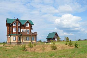 Коттедж и дом в парке отдыха Веслево в Переславле Залесском.