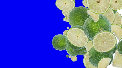 Falling Limes (with Alpha Channel)
