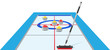curling sport game vector illustration