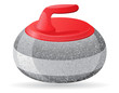 stone for curling sport game vector illustration