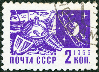 Luna 9 space mission and the Moon (USSR 1966)