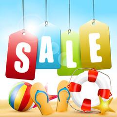 Summer sale - vector background