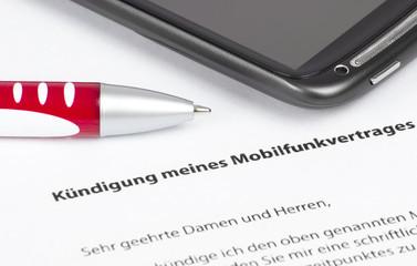 Kündigung Mobilfunkvertrag
