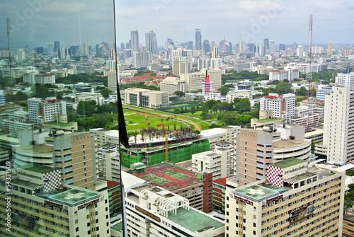 View on Bangkok from Hotel Sky Pool, Thailand