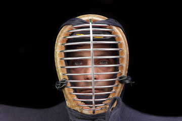 kendo man closeup