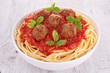 bowl of spaghetti and meatball