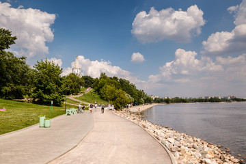 Moscow River and Church of the Ascension in Kolomenskoye, Moscow
