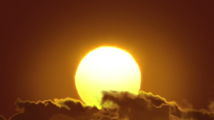Beautiful Sun and Clouds in Looped animation. HD 1080.