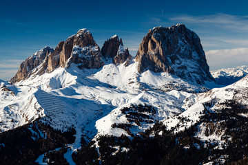 Passo Sella Peak on the Ski Resort of Canazei, Dolomites Alps, I