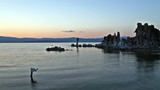 Mono Lake panorama at sunset, time lapse