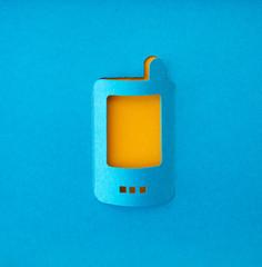 mobile phone paper symbol
