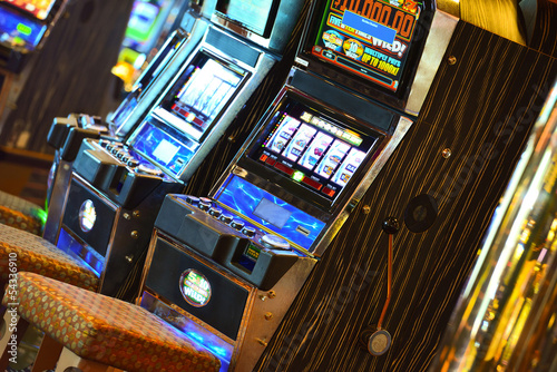 A slot machine in the casino