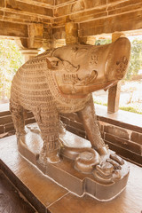 The metal statue of the boar Varaha. Khajuraho, India