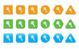 set of decrease icons of different shape poster