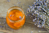Fototapety Apricot jam with lavender