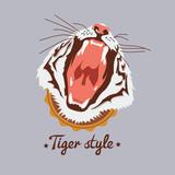 Wild tiger portret - 54337943