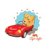 Wild cat retro auto driver - 54337970