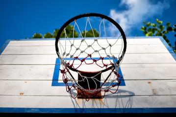 Old basketball backboard
