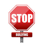 stop bullying sign illustration design poster