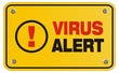 virus alert yellow sign - rectangle sign