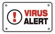 virus alert rectangle sign