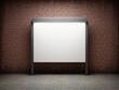 Blank notice board