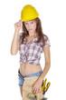 Heimwerkerin bei der Arbeit