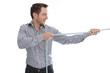 Geschäftsmann isoliert kämpft um seine Karriere
